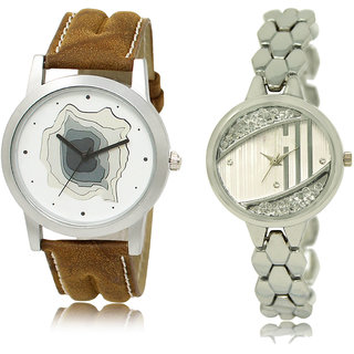 ADK LK-09-223 Brown & Silver Dial Best Watches for  Couple