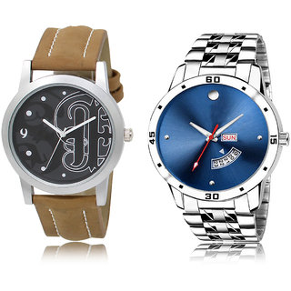 ADK LK-14-105 Black & Blue Dial DAY & DATE Functioning Watches for  Men