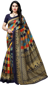 Anand Sarees Blue Color BhagalPuri Saree With Unstitched  Blouse Piece ( 1550_3 )