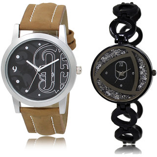 ADK LK-14-237 Black & Black Dial New Arrival Watches for  Couple