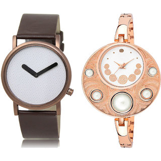 ADK LK-36-246 White Dial Designer Watches for  Couple