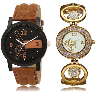 ADK LK-01-204 Brown & Black4 Dial New  Watches for  Couple
