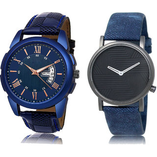 ADK JG-01-LK-35 Blue & Black Dial DAY & DATE Functioning Watches for  Men