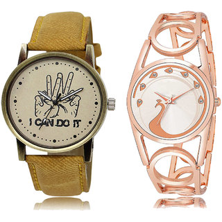 ADK LK-30-232 Orange & Silver Dial New Arrival Watches for  Couple