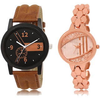 ADK LK-01-222 Brown & Rose Gold Dial New Arrival Watches for  Couple