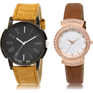 ADK LK-19-245 Black & White Dial New Arrival Watches for  Couple
