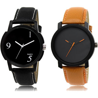 ADK LK-06-20 Black & Black Dial Look Watches for  Men
