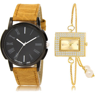 ADK LK-19-247 Black & Gold Dial Latest Watches for  Couple