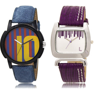 ADK LK-10-207 Multicolor & White Dial New Arrival Watches for  Couple