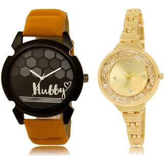 ADK LK-32-224 Black & Gold Dial New Arrival Watches for  Couple
