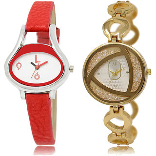 ADK LK-206-239 White & Gold Dial Latest Watches for  Girls