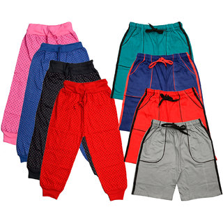 IndiWeaves Boys Cotton Printed Capri and Shorts/Bermuda (Pack of 8)