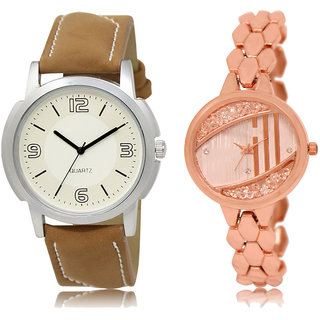 ADK LK-16-222 White & Rose Gold Dial Look Watches for  Couple