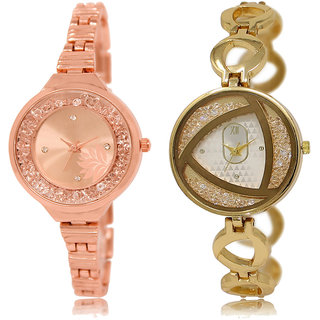ADK LK-225-239 Rose Gold Dial Designer Watches for  Girls
