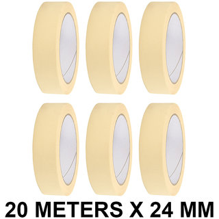 VCR Masking Tape - 20 Meters in Length 24mm / 1 Width - 6 Rolls Per Pack