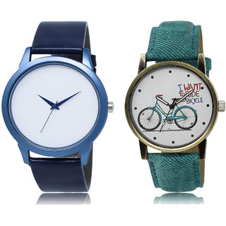ADK LK-33-229 White & Multicolor Dial New Arrival Watches for  Couple