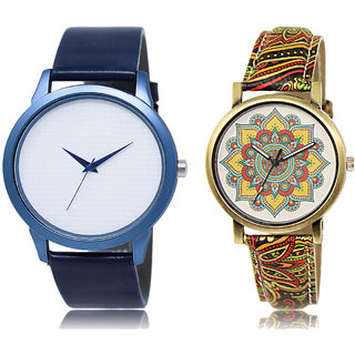 ADK LK-33-248 White & Multicolor Dial New  Watches for  Couple