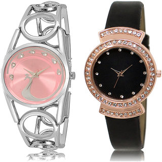 ADK LK-233-244 Pink & Black Dial Best Watches for  Girls