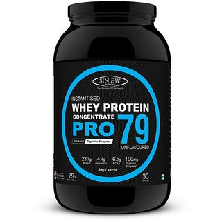 Sinew Nutrition Raw Whey Protein Concentrate Pro 79 1Kg Unflavoured