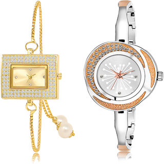 ADK LK-247-249 Gold & Silver Dial Latest Watches for  Girls