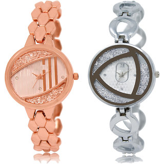 ADK LK-222-240 Rose Gold & Silver Dial New Arrival Watches for  Girls