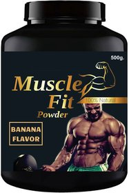Vitara Healthcare Muscle Fit Banana Flavor Muscle Gainer Weight Gainer 500 gm Powder (Pack Of 1)