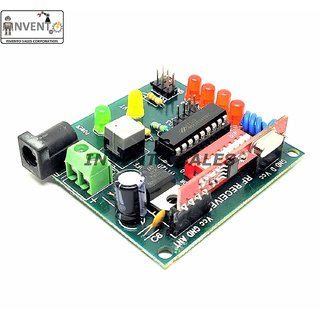 INVENTO 433Mhz Wireless RF Transmitter Receiver Board With HT12D HT12E upto 100 mtr range for DIY Projects