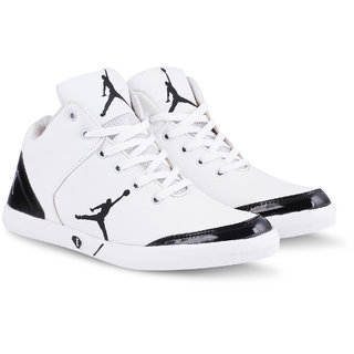 Metmo Men's White Casual Shoes