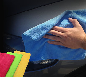 SD Microfiber Cloth/ Car Cleaning Cloth pack of 1 assorted color