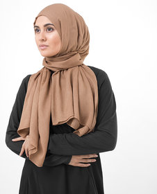 SILK ROUTE London Pumpkin Spice Brown Viscose Hijab/ Scarf