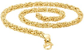 Brass Gold Plated 20 inch Chain for Men by Sparklinng Jewellery