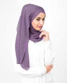 SILK ROUTE London Grape Compote Poly Chiffon Hijab/ Scarf