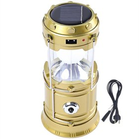 6+1 LED Solar Emergency Light Lantern with USB Mobile Charging,Torch point,  Solar and Lithium Battery - Random Colour