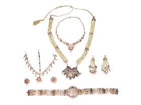 Kaku Fancy Dresses Bharatnatyam Jewellery/Classical Dance Jewellery Set for Girlst -Golden, Free Size for Girls