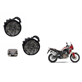 Skynex Black 9 led Round Fog Lamp Assembly Set Of 2 For Honda Cbr1000Rr