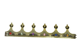 Kaku Fancy Dresses King Crown/Royal Fancy Dress Hat -Golden, Free Size, for Boys