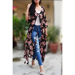 Woow Long Floral shrug
