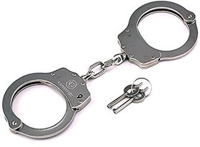 Kaku Fancy Dresses Hand Cuffs for Kids/Phenovo Cop Sheriff Officer Handcuff Toy/Hathkadi Costume