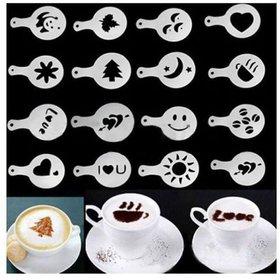 JonPrix 16 Coffee Stencil 16pcs Creative Design Coffee Stencil Coffee Latte's or Hot Chocolate