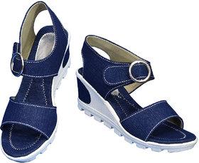 Women Blue Sandal Heel