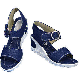 Women Blue Sandal Heel