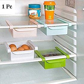 SNR 1pc Multipurpose Compact Fridge Pull-Out Drawer Organizer Kitchen Shelf Rack,Multi Purpose Sliding Rack