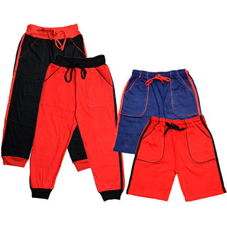 IndiWeaves Boys Cotton Shorts/Bermuda and Lower (Pack of 4)
