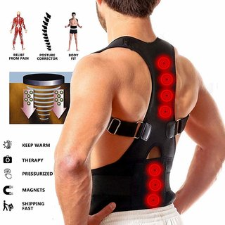 Nucleya Retail Real Doctor Magnetic Therapy Posture Corrector, Shoulder Back Support Belt for Men and Women