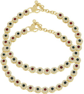 Sukkhi Trendy Gold Plated Anklet for women