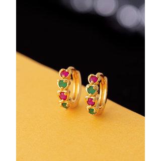Voylla Coloured Gemstones Adorned Earrings