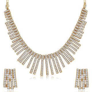 Sukkhi Fancy Mehandi Gold Plated Choker Necklace Set for Women