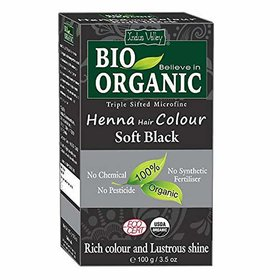 Indus Valley Bio Organic Natural Soft Black Henna Hair Color(100 g)