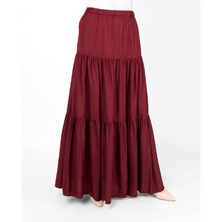 SILK ROUTE London Red Pear Boho Gypsy Full Length Skirt For Women Height of 54 inches