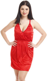You Forever Women's Red Satin Nightwear